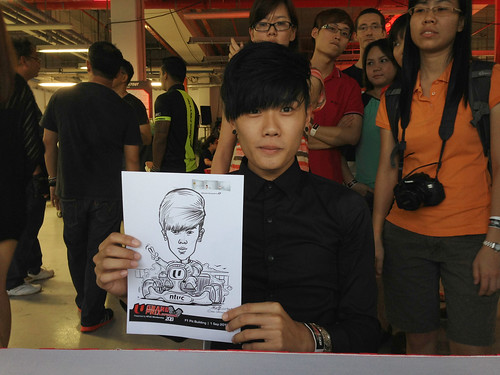 caricature live sketching for NTUC U Grand Prix Experience 2013 - 24