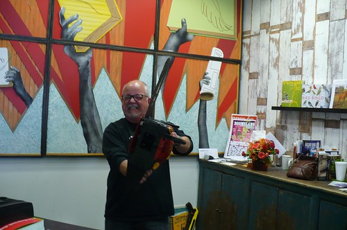 Bookshop Owner With A Chainsaw