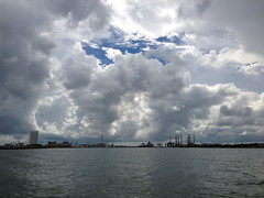 Galveston Harbor from dolphin cruise