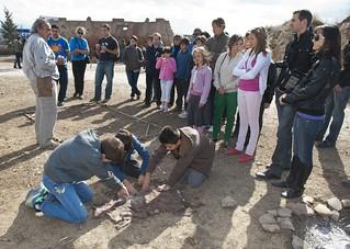 Visita a las excavaciones.