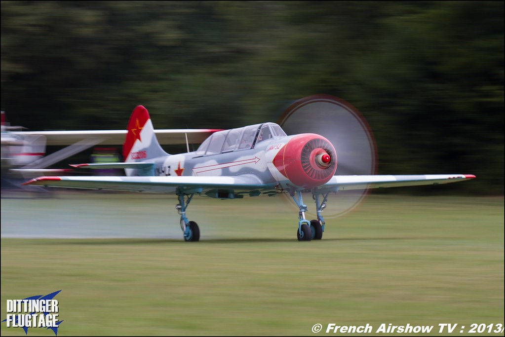 Yak-52 LY-HLZ at Dittinger Flugtage 2013