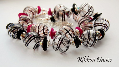 Ribbon Dance Necklaces by gemwaithnia