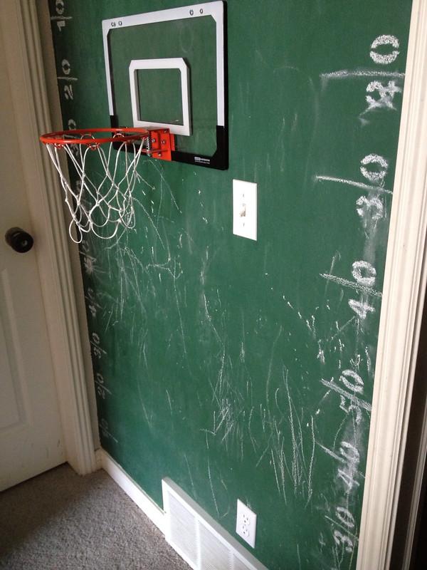 indoor kids basketball hoop decor