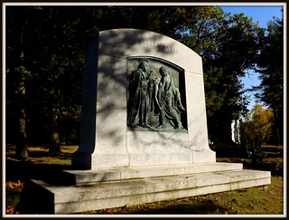 Full View, Ernest W. Haass Memorial: Woodlawn Cemetery--Detroit MI