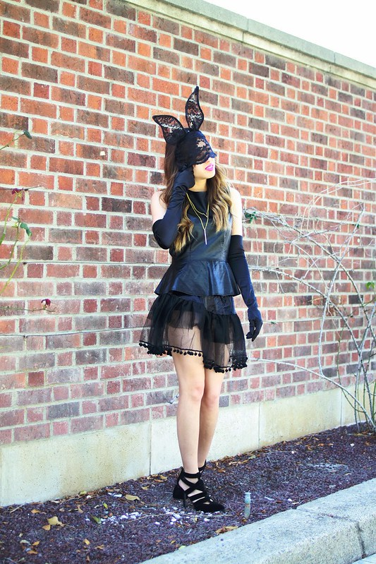 lucky magazine contributor,fashion blogger,lovefashionlivelife,joann doan,style blogger,stylist,what i wore,my style,fashion diaries,outfit,seven til midnight,halloween,costume,bunny,lace bunny ears,charlotte russe,fashion climaxx