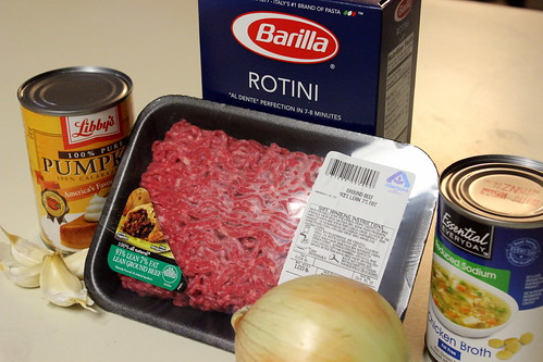 Pumpkin Pasta Ingredients