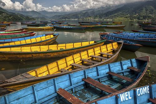nepal lake boats welcome lakephewa pokhara phewa