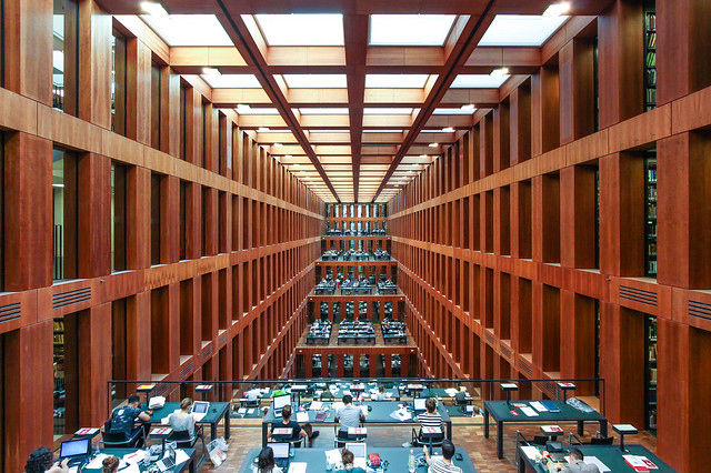 The Grimm library in the Humboldt university of Berlin