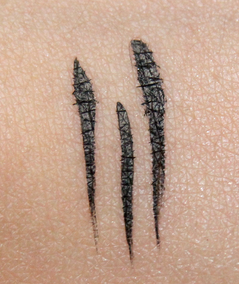 pürminerals pure black precision eyeliner swatch