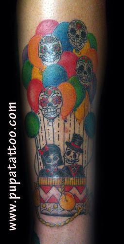 tatuaje globos Pupa Tattoo Granada by Marzia PUPA Tattoo