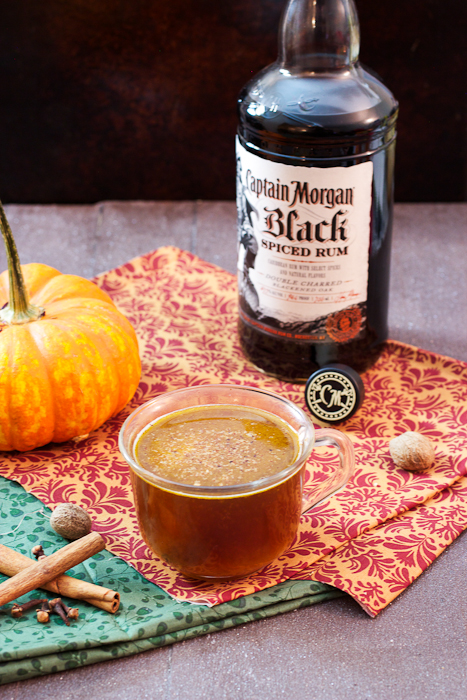Hot Pumpkin Buttered Rum @captainmorgan #CaptainsTable