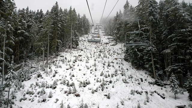 Garbanzo lift line, early season