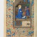 Christmas scene in a 15th century manuscript by Virtual Manuscript Library of Switzerland