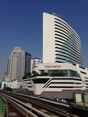 Westin Hotel seen from Asok BTS Skytrain station, Bangkok, Thailand