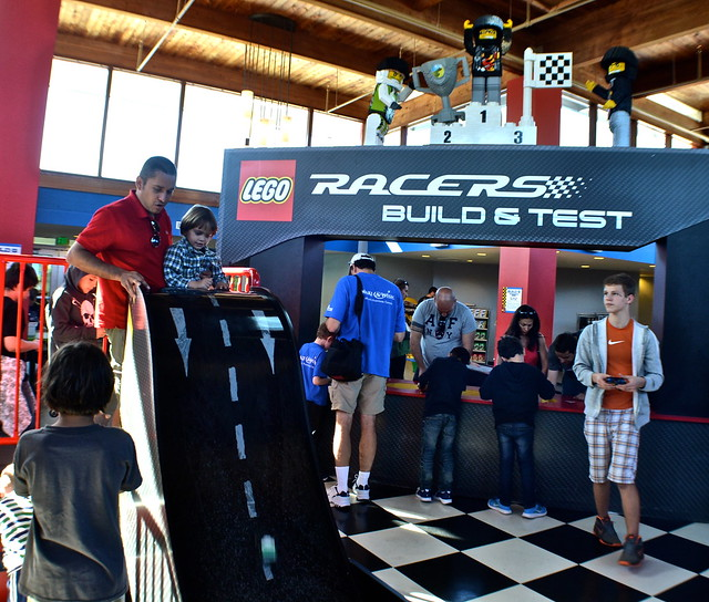 Legoland, Florida - putting the race car to the test