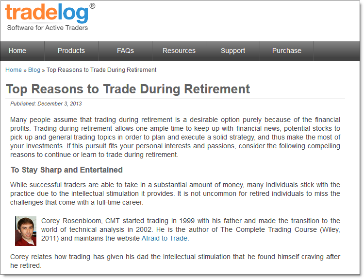 Trading Through Retirement