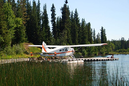 Floatplane on Nimpo Lake, Chilcotin, British Columbia