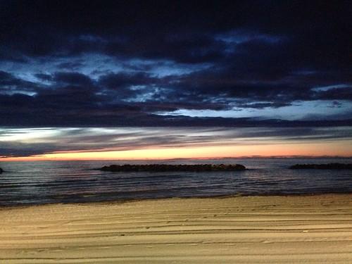 sea sunrise colours view portosangiorgio