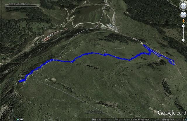 登頂合歡山東峰路線圖