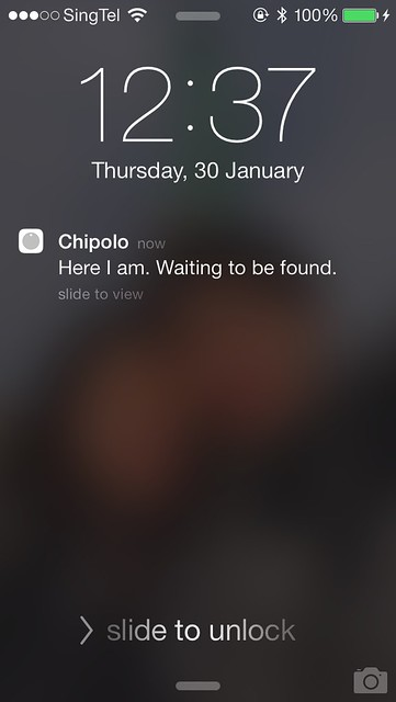 Chipolo iOS App - Shake & Find Notification