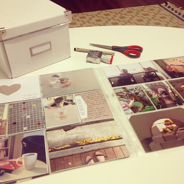 'Project Life' up to date. Tick. :) #projectlife #memorykeeping #photoalbum