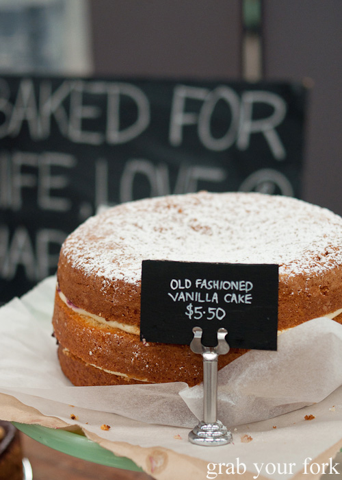 Old-fashioned vanilla cake by Flour and Stone at the Sunday Marketplace, Rootstock Sydney 2014
