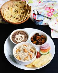 jeera cashew pulao, dal makhani, aloo methi