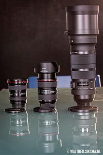 Sigma 120-300 2.8 DG OS HSM naast Canon 17-40 en 24-70 II