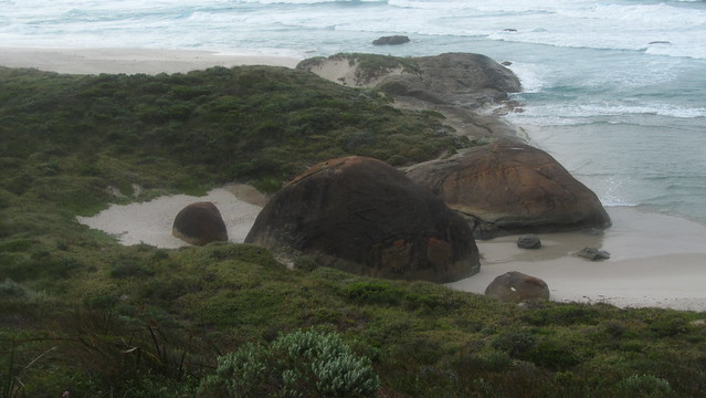 Day 48: Boulders on beach