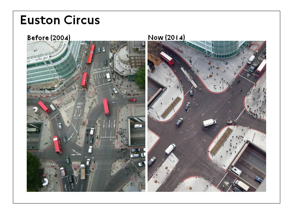 Euston Circus - before and after