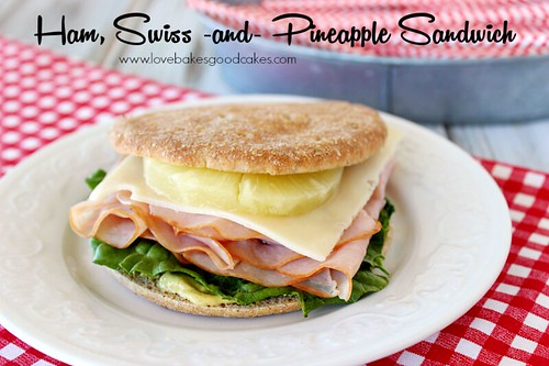 Ham Swiss & Pineapple Sandwich - A quick and easy meal idea! #SandwichThins #sandwich #easy #sponsored