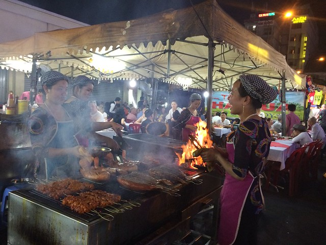 Hai Lua in the Ben Thanh Night Market