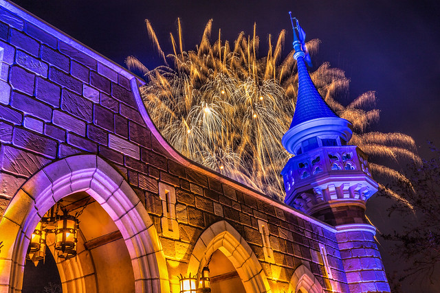 Fireworks Friday:  Wishes Behind the Turret