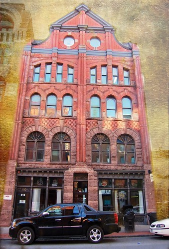 """county sunset red sky ny building brick st architecture clouds square anne apartments district clinton style explore architect syracuse historical armory romanesque gem billings donohue """"new onondaga york"""" nrhp onasill officesqueen"""