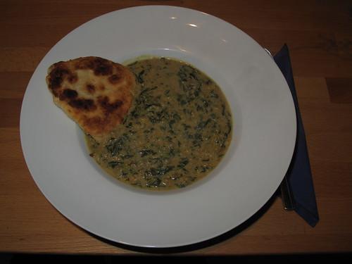 Spinat-Linsen-Gericht