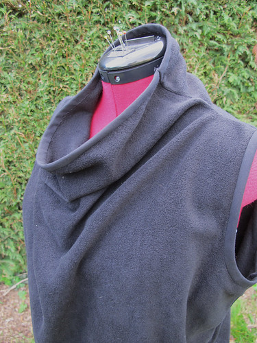Fleece drape top