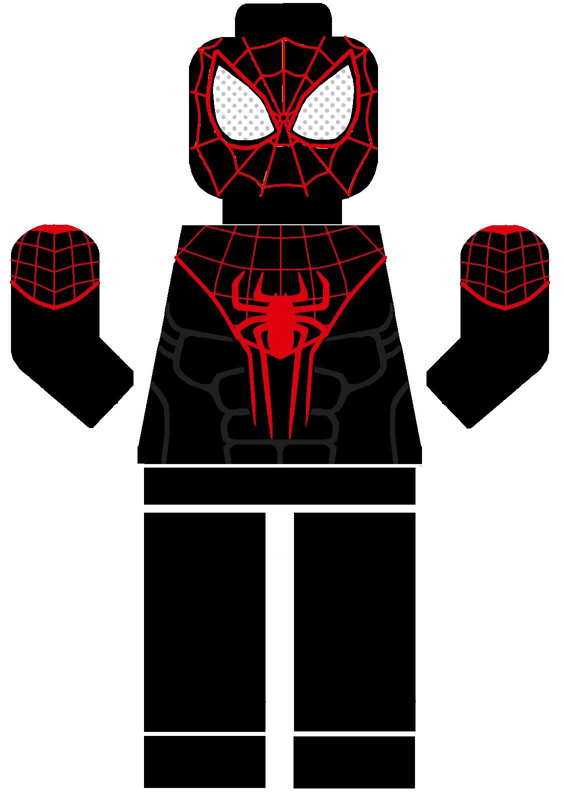 lego ultimate comics spiderman miles morales decal ...
