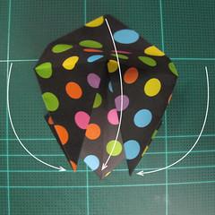 การพับกระดาษเป็นถุงใส่ขนมแบบญี่ปุ่น (Origami Sambo) 003