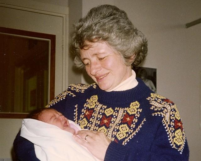 Mama &  Rachel, 1 day old