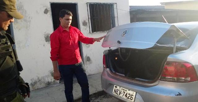 Prisão de carro roubado em Alenquer.