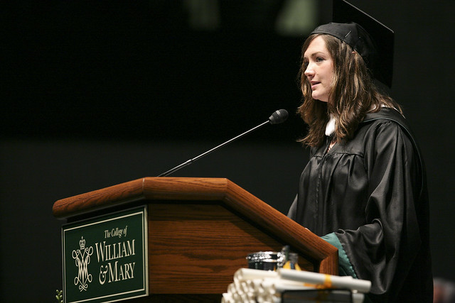 Hannah-Lee Grothaus '14 speaks at Commencement