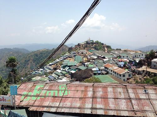 rock golden pagoda myanmar kyaiktiyo