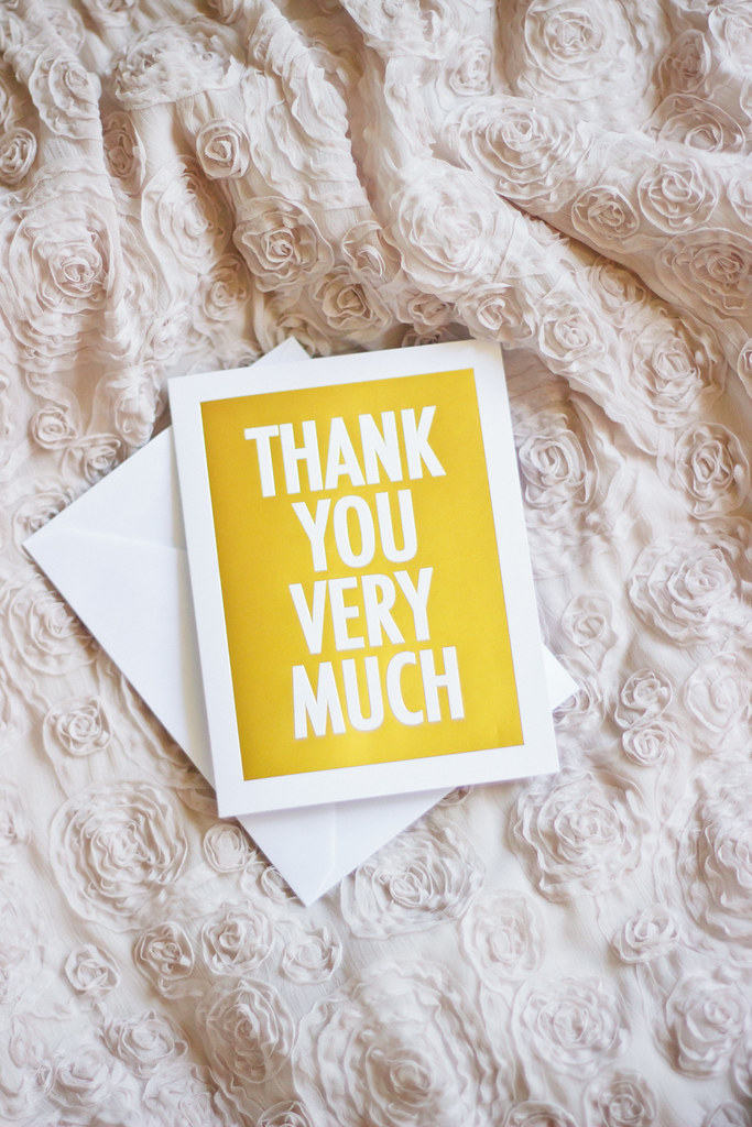 {the joy of thank you cards} via chevrons & éclairs