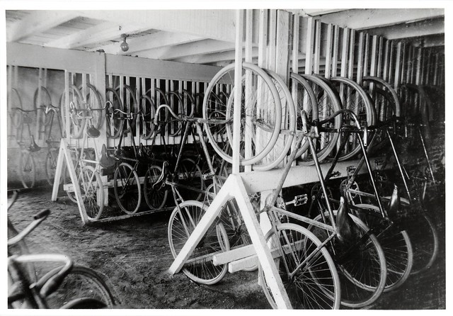 Bicycle rack, Wallaroo mine, 1915