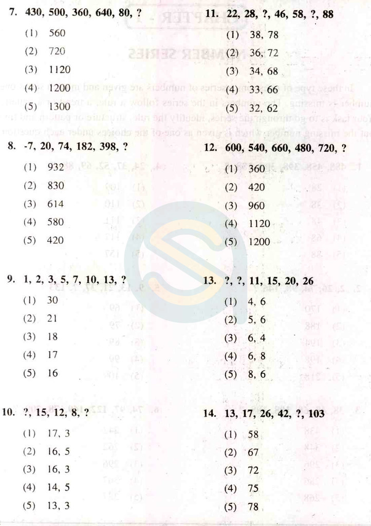 NTSE Preparation - Number Series