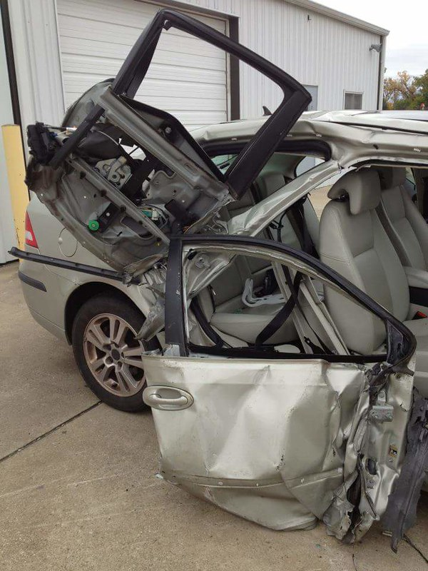 Saab 9-3 saved two lives