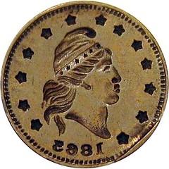 1863 Turban Head token brockage error1