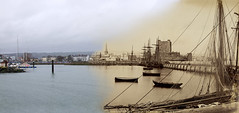 Merged old/new photographs - County Antrim