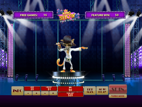 free Cat in Vegas slot free games Felix dance