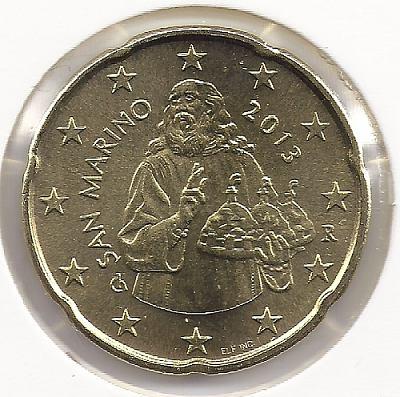 20 eurocentov San Marino 2013